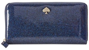 Kate Spade Kate Spade Navy Blue Glitter Wallet New With Box