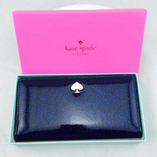 Kate Spade Kate Spade Navy Blue Glitter Wallet New With Box Image 1