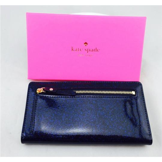 Kate Spade Kate Spade Navy Blue Glitter Wallet New With Box Image 4