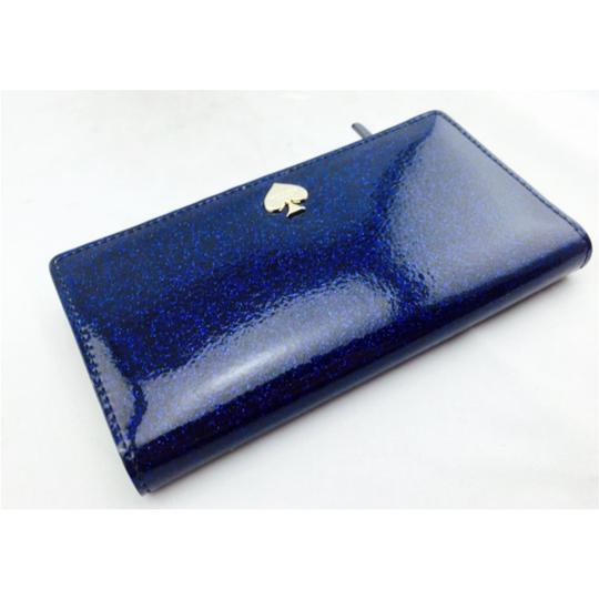 Kate Spade Kate Spade Navy Blue Glitter Wallet New With Box Image 7