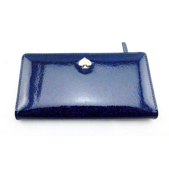 Kate Spade Kate Spade Navy Blue Glitter Wallet New With Box Image 8