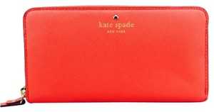 Kate Spade Kate Spade Red Continental Zip Wallet New With Tags