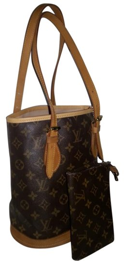 Preload https://item2.tradesy.com/images/louis-vuitton-w-bucket-pm-w-pouch-brown-leather-and-canvas-shoulder-bag-8495401-0-9.jpg?width=440&height=440