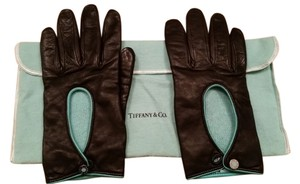 Tiffany & Co. Tiffany peep hole leather gloves 6 1/2