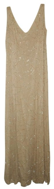Item - Beige Long Formal Dress Size 6 (S)