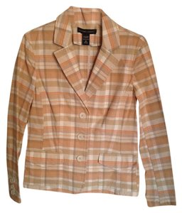 New York & Company Peach, Tan and White Blazer