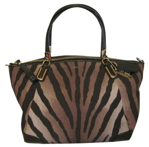 Coach Madison Small Kelsey Zebra Cross Body Bag