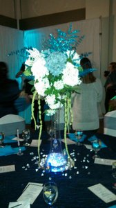 Blue And White Silk Hydrangea Centerpieces