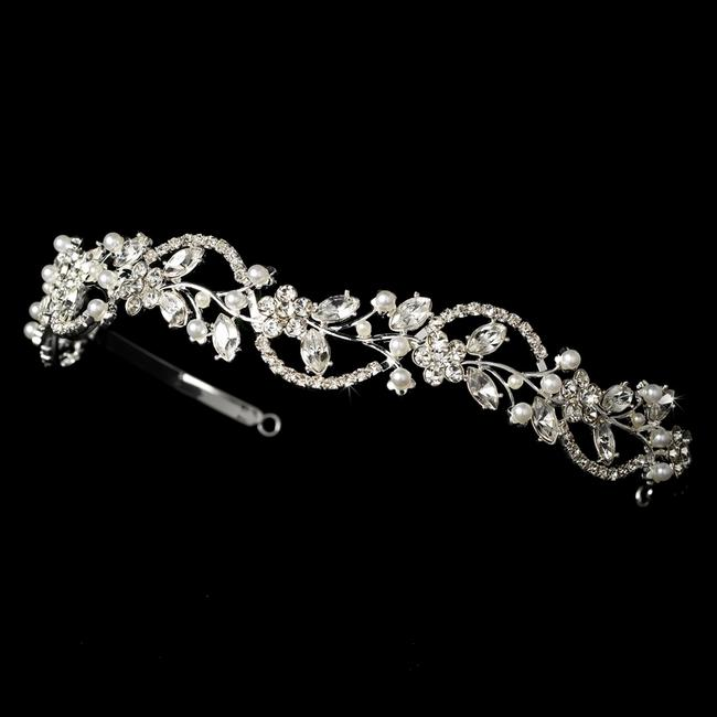 Item - Silver Swirl Crystal Pearl Headband - Special Hair Accessory