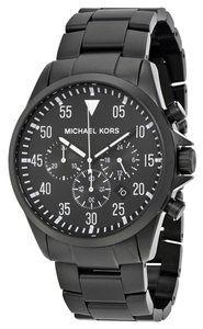 Michael Kors Michael Kors Gage Black Ion-Plated Stainless Steel Chronograph Mens Watch MK8414