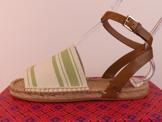 Tory Burch ivory/olive/royal tan Sandals Image 1