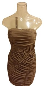 Ark & Co. Nude Mesh Kim Kardashian Strapless J. Lo Mesh Strapless Beige Bodycon Bodycon Kardashian Bodycon Body Con Dress
