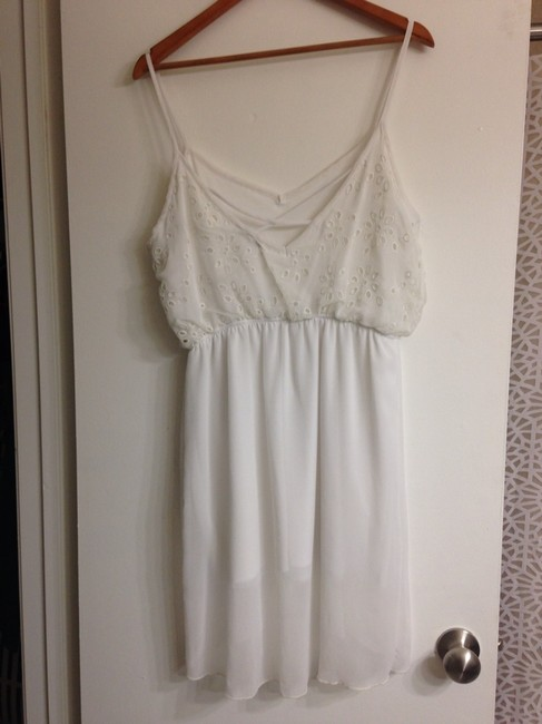 Sweet Claire short dress White Off-white on Tradesy