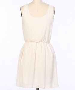 Hello Miss short dress Cream on Tradesy