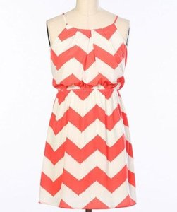 Pink Owl short dress Coral White on Tradesy