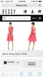 Alfred Sung Midnight Alfred Sung Style D528 Dress