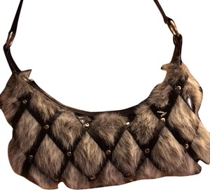 Matt and Matt Montreal leather and fur small clutch Baguette