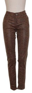 Velvet Heart Animal Print Stretchy Skinny Pants LEOPARD