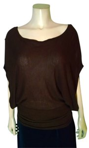 Guess Knit Size Medium Kimono Sleeves Stretchy Loose Fit P1825 Top brown