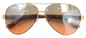 Tory Burch Tory Burch Brown Lens Copper Aviator Gold Leaf Sunglasses TY 6031