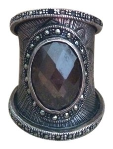 Other Beautiful silver statement ring with smoky quartz stone