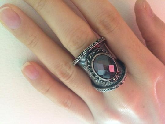 Other Beautiful silver statement ring with smoky quartz stone Image 4