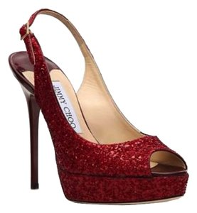 279fe2c7040c Jimmy Choo Red Glitter Heels Photos