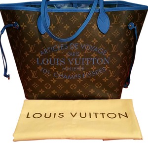 Louis Vuitton Tote in Brown/Blue