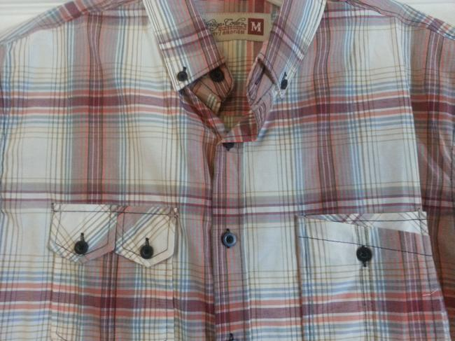 Sovereign Codes Button Down Shirt Maroon and White Plaid Image 1
