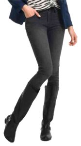 JustFab Black Flats Knee High Casual Boots