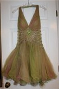Precious Formals Green And Pink Dress