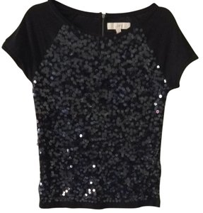 Ann Taylor LOFT Top Black Sequin
