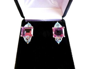 Other PURPLE AMETHYST-SKY BLUE TOPAZ 925 STERLING SILVER EARRINGS