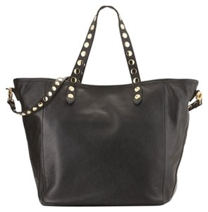 Isabella Fiore Studded Tote in Black