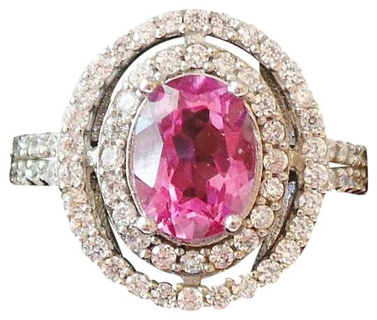Other RICH PINK TOPAZ & ZIRCON STERLING SILVER RING
