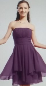LightInTheBox Grape Chiffon Strapless Formal Bridesmaid/Mob Dress Size 6 (S)