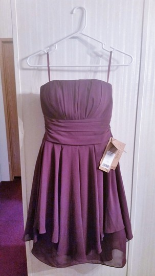LightInTheBox Grape Chiffon Strapless Formal Bridesmaid/Mob Dress Size 6 (S) Image 1