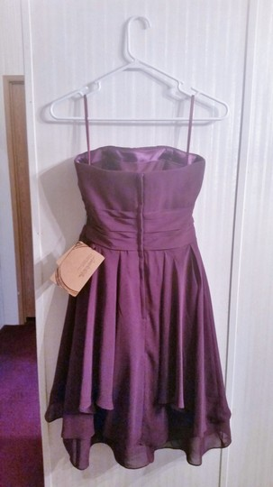 LightInTheBox Grape Chiffon Strapless Formal Bridesmaid/Mob Dress Size 6 (S) Image 2