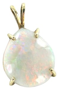 14KT YELLOW SOLID GOLD PENDANT CHARM OPAL 2.6 GRAMS GEMSTONE PRECIOUS BIRTHSTONE