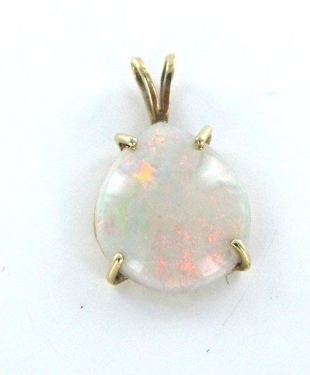 Other 14KT YELLOW SOLID GOLD PENDANT CHARM OPAL 2.6 GRAMS GEMSTONE PRECIOUS BIRTHSTONE Image 1