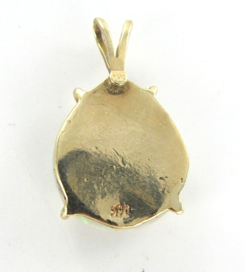 Other 14KT YELLOW SOLID GOLD PENDANT CHARM OPAL 2.6 GRAMS GEMSTONE PRECIOUS BIRTHSTONE Image 3