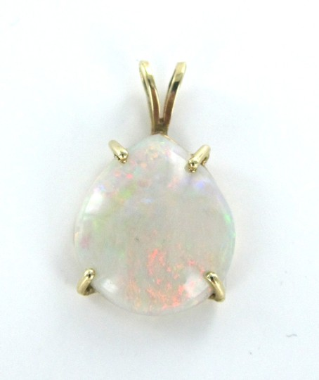Other 14KT YELLOW SOLID GOLD PENDANT CHARM OPAL 2.6 GRAMS GEMSTONE PRECIOUS BIRTHSTONE Image 4