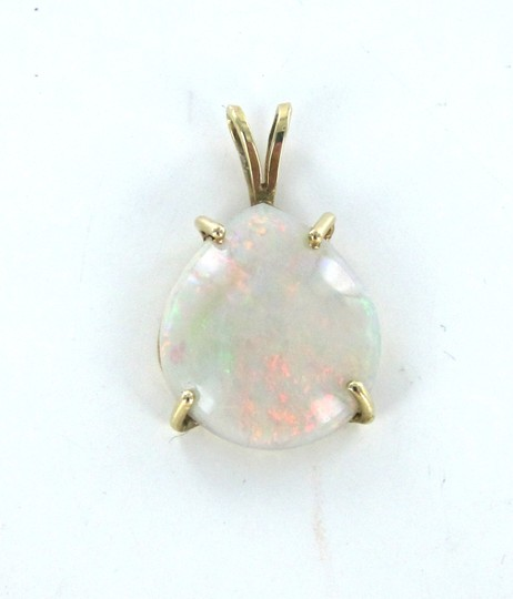 Other 14KT YELLOW SOLID GOLD PENDANT CHARM OPAL 2.6 GRAMS GEMSTONE PRECIOUS BIRTHSTONE Image 6