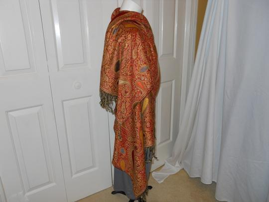 Other paisley fringed wrap Image 2