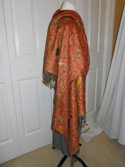 Other paisley fringed wrap Image 4