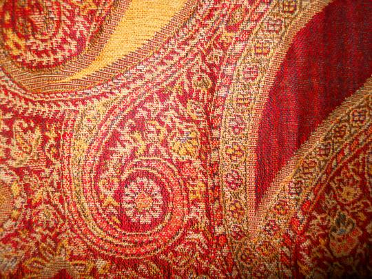 Other paisley fringed wrap Image 6