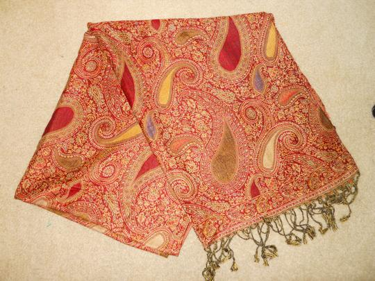 Other paisley fringed wrap Image 7
