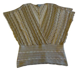 M Missoni Top beige with gold butterfly top