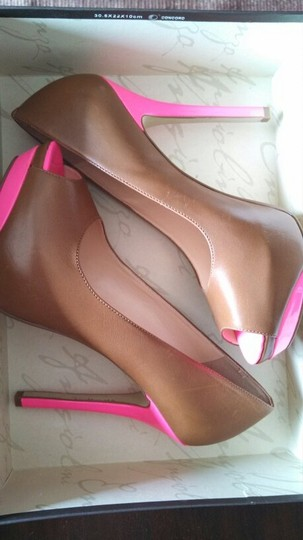 Enzo Angiolini Brown/Pink Pumps