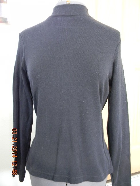 Unknown Dressy Professional Embroidered Top Black